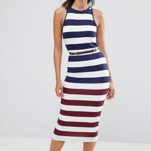 Ted Baker Rowing Stripe Dress US 6 NWT